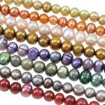 Patates Beads ujërave të ëmbla kulturuar Pearl, Pearl kulturuar ujërave të ëmbla, i lyer, ngjyra të përziera, 4-5mm, : 0.8mm, : 15.7Inç, 50Fillesat/Qese,  Qese