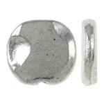 Zinklegierung flache Perlen, flache Runde, antik silberfarben plattiert, frei von Nickel, Blei & Kadmium, 11x10x2mm, Bohrung:ca. 1mm, ca. 1110PCs/kg, verkauft von kg
