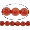 Beads Kuq Natyrore agat, Round, asnjë, asnjë, 8mm, : 2mm, :15Inç, 10Fillesat/Shumë,  Shumë