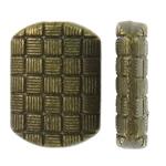 Beads aliazh zink Flat, Drejtkëndësh, Ngjyra antike bronz i praruar, asnjë, asnjë, , nikel çojë \x26amp; kadmium falas, 11x8x3mm, : 1mm, 1660PC/KG,  KG