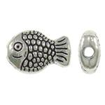 Beads Alloy zink Kafshëve, Peshk, Ngjyra antike argjendi praruar, asnjë, asnjë, , nikel çojë \x26amp; kadmium falas, 7x10x3.50mm, : 1mm, 1660PC/KG,  KG