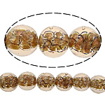 Inner Beads Lampwork Twist, Round, asnjë, kthesë brendshme, portokall, 12mm, : 1mm, :10Inç, 5Fillesat/Shumë,  Shumë