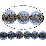 Inner Beads Lampwork Twist, Round, asnjë, kthesë brendshme, blu, 12mm, : 1mm, :10Inç, 5Fillesat/Shumë,  Shumë