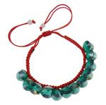 Crystal Shamballa Bracelets, Kristal, Shape Tjera, colorful kromuar, i tejdukshëm, Crystal Gjelbër, 10x5mm, : 7.5Inç, 12Fillesat/Qese,  Qese