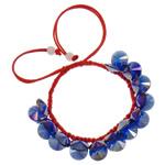 Crystal Shamballa Bracelets, Kristal, Shape Tjera, colorful kromuar, i tejdukshëm, Safir, 10x5mm, :7.5Inç, 12Fillesat/Qese,  Qese