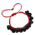 Crystal Shamballa Bracelets, Kristal, Shape Tjera, ngjyra të forta, Reaktiv, 10x5mm, :7.5Inç, 12Fillesat/Qese,  Qese