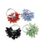 Ring Finger Crystal, Hekur, Shape Tjera, ngjyrë platin praruar, asnjë, ngjyra të përziera, , nikel çojë \x26amp; kadmium falas, 21x33x24mm, :7.5, 50PC/Kuti,  Kuti