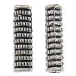 Beads Zink Alloy Tube, Alloy zink, Ngjyra antike argjendi praruar, asnjë, asnjë, , nikel çojë \x26amp; kadmium falas, 4x14mm, : 2mm, 2500PC/KG,  KG