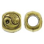 Beads Zink Alloy Vendosja, Alloy zink, Daulle, Ngjyra antike ari praruar, asnjë, asnjë, , nikel çojë \x26amp; kadmium falas, 10x8.5mm, : 5mm, 520PC/KG,  KG