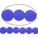 I mbuluar me brymë Lampwork, Round, asnjë, safir, 10mm, : 2mm, :11Inç, 10Fillesat/Shumë,  Shumë