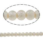 Stardust Glass Beads, Xham, Round, asnjë, bezh, 8mm, : 1mm, : 33Inç, 10Fillesat/Qese,  Qese