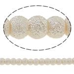 Stardust Glass Beads, Xham, Round, asnjë, bezh, 6mm, : 1.5mm, : 31.4Inç, 10Fillesat/Qese,  Qese