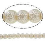 Stardust Glass Beads, Xham, Round, asnjë, bezh, 6mm, : 2mm, : 31.4Inç, 10Fillesat/Qese,  Qese