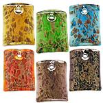 Rërë Pendants Gold Lampwork, Drejtkëndësh, asnjë, rërë ari, ngjyra të përziera, 30x40x9mm, : 4.5mm, 50PC/Shumë,  Shumë