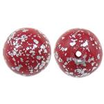 Beads polimer balta, Round, asnjë, asnjë, i kuq, 11mm, : 1.5mm, 100PC/Qese,  Qese