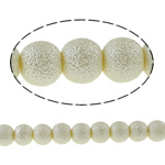 Stardust Glass Beads, Xham, Round, asnjë, bezh, 10mm, : 1.5mm, : 32Inç, 10Fillesat/Qese,  Qese