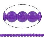 Knistern Glasperlen, Glas, rund, violett, 6mm, Bohrung:ca. 1.5mm, Länge:ca. 32 ZollInch, 10SträngeStrang/Tasche, verkauft von Tasche