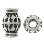 Beads aliazh zink Hollow, Alloy zink, Vazo, Ngjyra antike argjendi praruar, i uritur, asnjë, , nikel çojë \x26amp; kadmium falas, 9.5x14.5mm, : 3.5mm, 100PC/Qese,  Qese