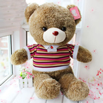 Teddy Bear Toy, Velveteen, punuar me dorë, ngjyrë kafe, 65cm,  PC
