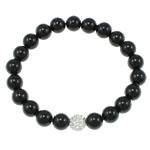 Jug Deti Shell Bracelets, Shape Tjera, sintetik, asnjë, e zezë, 8mm, :7.5Inç, 12Fillesat/Qese,  Qese