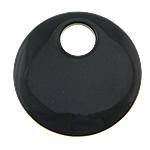 Pendants Zi agat, Black agat, Round Flat, asnjë, asnjë, 45x45x8mm, : 12mm, 5PC/Shumë,  Shumë