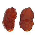Pendants Red agat, Luani, Gdhendur, asnjë, 22.50x38x17mm, : 1.5mm, 2Çiftet/Shumë,  Shumë