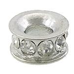 Alloy zink, Petull e ëmbël në formë gjevreku, ngjyrë platin praruar, me diamant i rremë, asnjë, , nikel çojë \x26amp; kadmium falas, 11.50x11.50x5.50mm, : 4.5mm, 100PC/Qese,  Qese