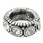 Alloy zink, Petull e ëmbël në formë gjevreku, Ngjyra antike argjendi praruar, me diamant i rremë, asnjë, , nikel çojë \x26amp; kadmium falas, 13x13x5.50mm, : 7.5mm, 100PC/Qese,  Qese