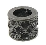 Alloy zink, Kolonë, plumbit ngjyrë të zezë praruar, asnjë, asnjë, , nikel çojë \x26amp; kadmium falas, 10x10x8mm, : 6mm, : 1.5mm, 100PC/Qese,  Qese