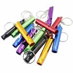 Whistle alumini, Shape Tjera, pikturë, asnjë, ngjyra të përziera, 60x10mm, 50PC/Shumë,  Shumë