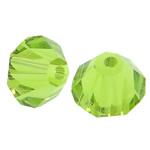 Swarovski Crystal Beads, Bicone, asnjë, Ngjyrë e verdhë, 6mm, : 1mm, 50PC/Qese,  Qese