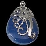 Deti Pendants opal, Deti Opal, with Tunxh, Lot, ngjyrë platin praruar, asnjë, asnjë, 28x40x10mm, : 5x4mm, 20PC/Shumë,  Shumë