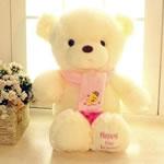 Teddy Bear Toy, Velveteen, punuar me dorë, bezh, 80cm,  PC