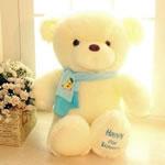 Teddy Bear Toy, Velveteen, punuar me dorë, bezh, 45cm,  PC