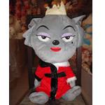 Teddy Bear Toy, Velveteen, Ujk, punuar me dorë, gri, 55cm,  PC