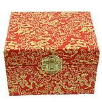 Dhuratë bizhuteri Box, Dru, with Letër & Hekur, Drejtkëndësh, ngjyrë ari praruar, asnjë, asnjë, 115x90x80mm, 10PC/Shumë,  Shumë