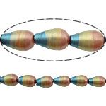 Beads dorë Lampwork, Lot, brushwork, asnjë, multi-colored, 13x8mm, : 1.5mm, 10PC/Shumë,  Shumë