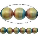 Beads dorë Lampwork, Round, brushwork, asnjë, multi-colored, 12mm, : 2.5mm, 10PC/Shumë,  Shumë