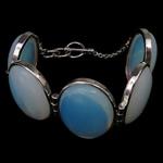 Bizhuteri gur i çmuar byzylyk, Deti Opal, Shape Tjera, ngjyrë platin praruar, asnjë, asnjë, 24.50x33x7.50mm, :8.5Inç, 5Fillesat/Shumë,  Shumë