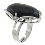 Agat unazë gishti, Black agat, with Tunxh, Shape Tjera, ngjyrë platin praruar, asnjë, 22x27.80x10.80mm, :6.5, 20PC/Shumë,  Shumë