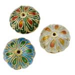 Pendants Cloisonne, Lule, i përzier, 28x13mm, : 1.5mm, 20PC/Qese,  Qese