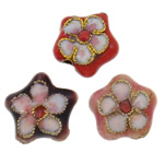 Pendants Cloisonne, Lule, i përzier, 12x5mm, : 1.5mm, 100PC/Qese,  Qese