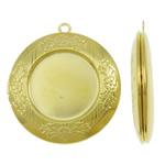 Varëse medalion Zink Alloy, Round Flat, ngjyrë ari praruar, asnjë, asnjë, , nikel çojë \x26amp; kadmium falas, 33x36x6mm, : 2.5mm, 50PC/Qese,  Qese