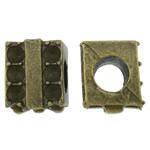 Beads Zink Alloy Vendosja, Alloy zink, Drejtkëndësh, Ngjyra antike bronz i praruar, asnjë, asnjë, , nikel çojë \x26amp; kadmium falas, 12x9.50x10mm, : 5.5mm, 100PC/Qese,  Qese