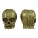 Beads Zink Alloy Vendosja, Alloy zink, Kafkë, Ngjyra antike bronz i praruar, asnjë, asnjë, , nikel çojë \x26amp; kadmium falas, 10x12x10.50mm, : 4.5mm, 200PC/Qese,  Qese