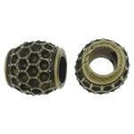 Beads Zink Alloy Vendosja, Alloy zink, Daulle, Ngjyra antike bronz i praruar, asnjë, asnjë, , nikel çojë \x26amp; kadmium falas, 12x11.5mm, : 5.5mm, 200PC/Qese,  Qese