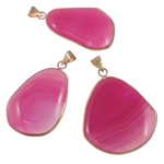 Agat pendants bizhuteri, Rose agat, Shape përziera, natyror, asnjë, 30-44.5mm, : 5-8mm, 20PC/Shumë,  Shumë