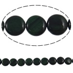 Syri Tiger Beads, Round Flat, natyror, asnjë, 12x4mm, : 1mm, :15.5Inç, 5Fillesat/Shumë,  Shumë