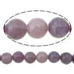 Beads bizhuteri gur i çmuar, Purple Stone, Round, asnjë, asnjë, 6mm, : 1.3mm, :16Inç, 5Fillesat/Shumë,  Shumë