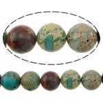 Beads bizhuteri gur i çmuar, Aqua Terra Jasper, Round, i lyer, asnjë, 6mm, : 1.2mm, :16Inç, 5Fillesat/Shumë,  Shumë